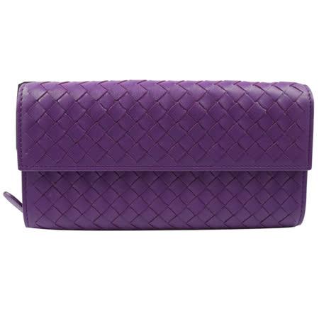 【開箱心得分享】gohappyBOTTEGA VENETA 純手工羊皮編織小羊皮扣式長夾.紫評價如何威 秀 大 遠 百