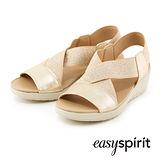 Easy Spirit--彈性交叉舒適涼鞋--閃耀金
