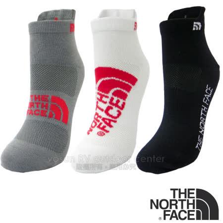 ※團購3雙入※【美國 The North Face】新款杜邦 COOLMAX 3D彈性機能短筒運動襪.三鐵跑步襪.抗菌休閒襪.短襪 (3入)