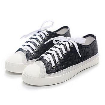 ALicE (預購)Y1190簡約百搭拼接休閒鞋 (黑)