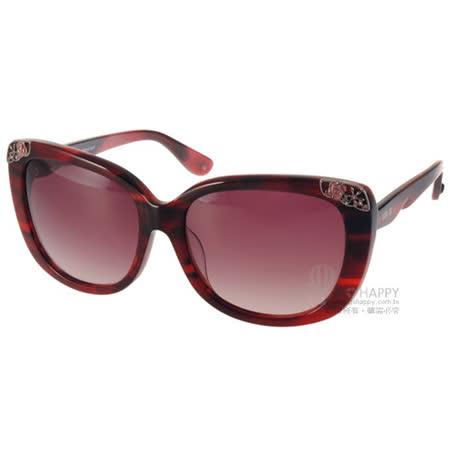 ANNA SUI太陽眼鏡 復古華麗風女款(流線紅) #AS1024-1 C210