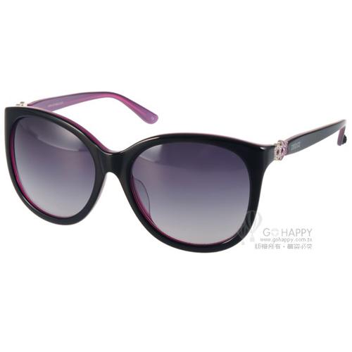 ANNA SUI太陽眼鏡 奢華華麗貓眼款^(黑~紫^) ^#AS1026~1 C036