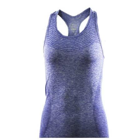 Nike 女 DRI FIT KNIT TANK 有氧韻律BRA 小背心 耐吉 藍 - 718568457