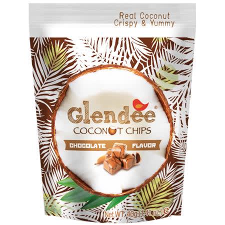 Glendee椰子脆片40g(巧克力口味)