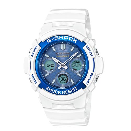 G~SHOCK 夏日海風太陽能 電波腕錶46mmAWG~M100SWB~7A