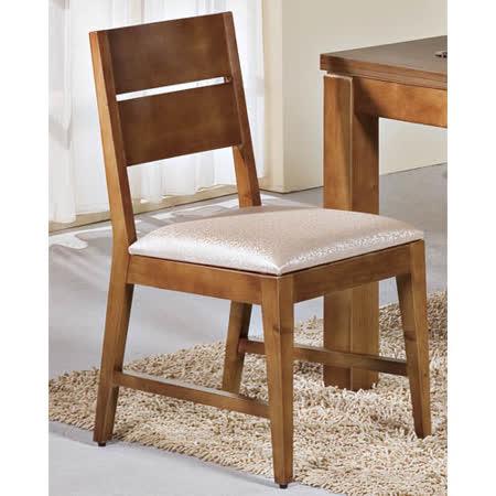 奎瑪柚木餐椅(皮墊)