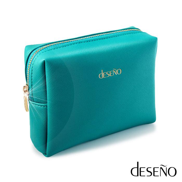 Deseno 繆斯旅行收納完大 遠 百 logo美隨行包(藍綠)
