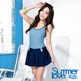 【SUMMERLOVE 夏之戀】夏日甜美條紋連身褲裙(S16728)