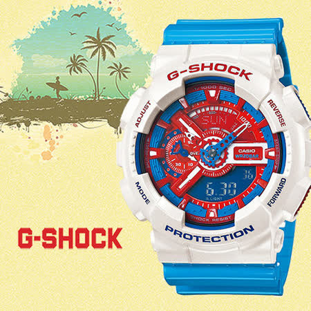 CASIO G-SHOCK 卡西歐 博派變形金剛潮流運動腕錶/GA-110AC-7A/防水/禮物