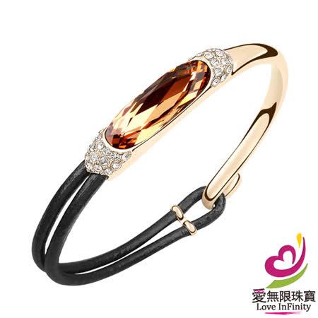 【愛無限珠寶金坊】簡單奢華-香檳 - 奧地利水晶手鍊