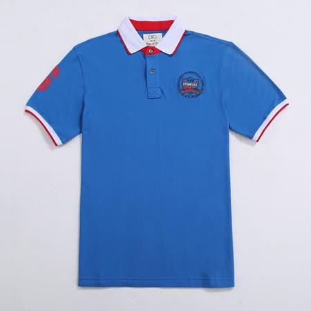【STONEY.AX】美式經典男士休閒POLO衫-藍色