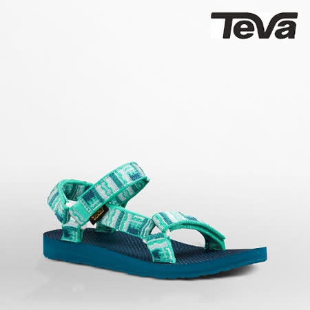 TEVA 女 ORIGINAL UNIVERSAL織帶涼鞋(印加藍綠)