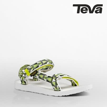 TEVA 女 ORIGINAL UNIVERSAL織帶涼鞋(格菱黃)