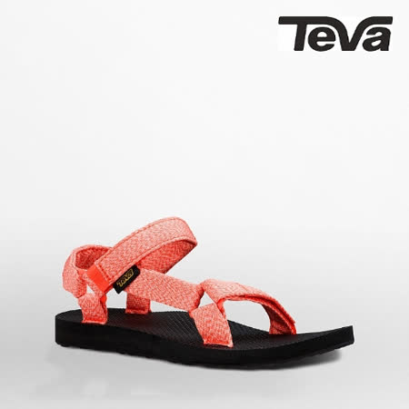 TEVA 女 ORIGINAL UNIVERSAL織帶涼鞋(泥灰珊瑚)