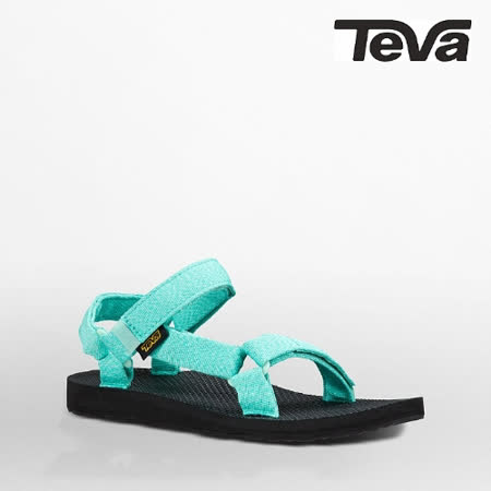 TEVA 女 ORIGINAL UNIVERSAL織帶涼鞋(泥灰水藍)