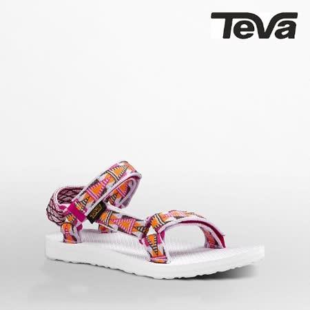 TEVA 女 ORIGINAL UNIVERSAL織帶涼鞋(格菱紫)