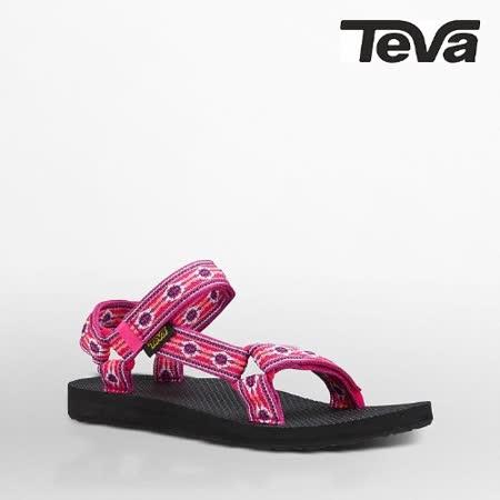 TEVA 女 ORIGINAL UNIVERSAL織帶涼鞋(蒙特利梅紅)