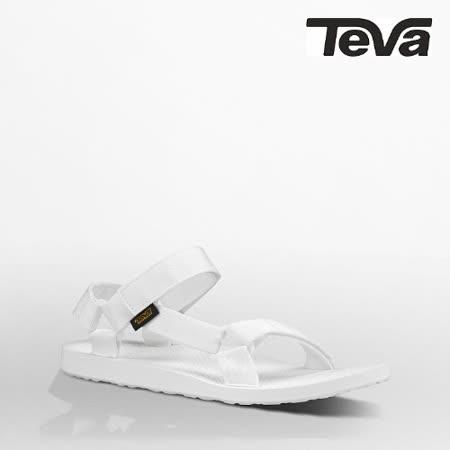 TEVA 男 ORIGINAL UNIVERSAL織帶涼鞋(亮白)