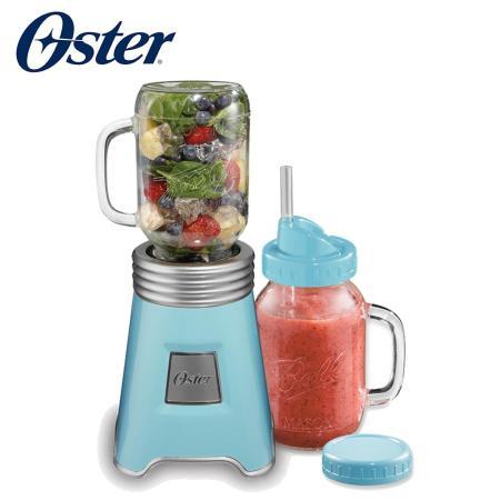 美國OSTER-Ball Mason Jar隨鮮瓶果汁機(藍)BLSTMM-BBL