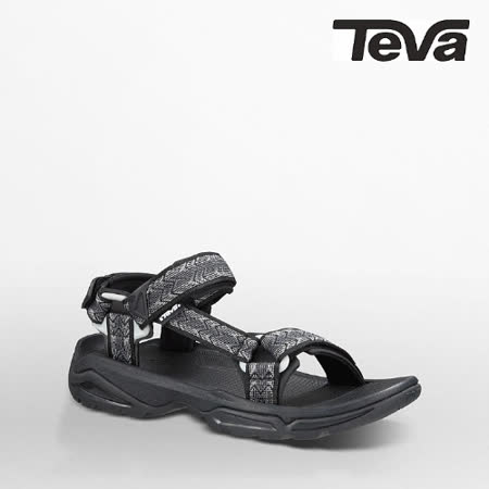 TEVA 男 TERRA FI 4運動涼鞋(菱格灰)