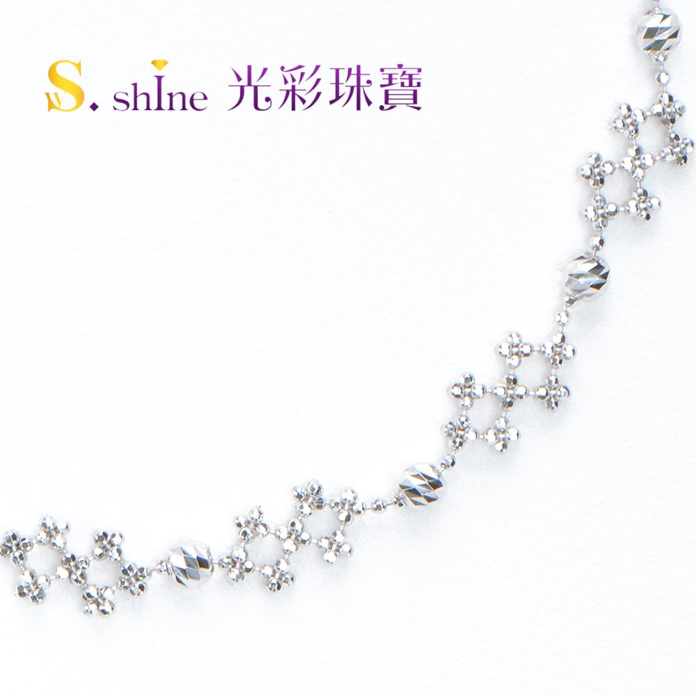 【光彩珠寶】日本鉑金手鍊 雪花翩翩