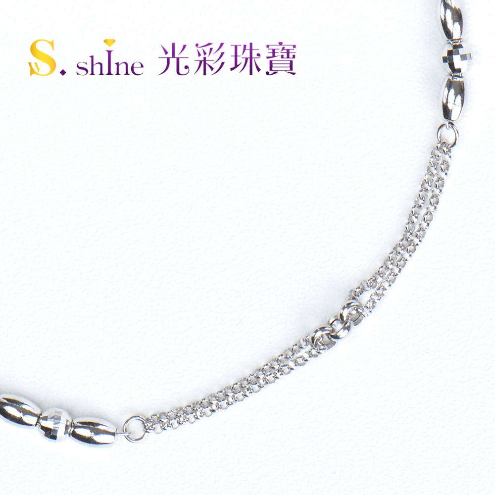 【光彩珠寶】日本鉑金手鍊 浪漫誓約