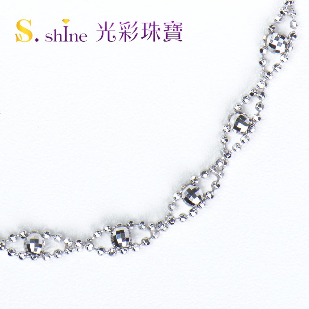 【光彩珠寶】日本鉑金手鍊 閃光