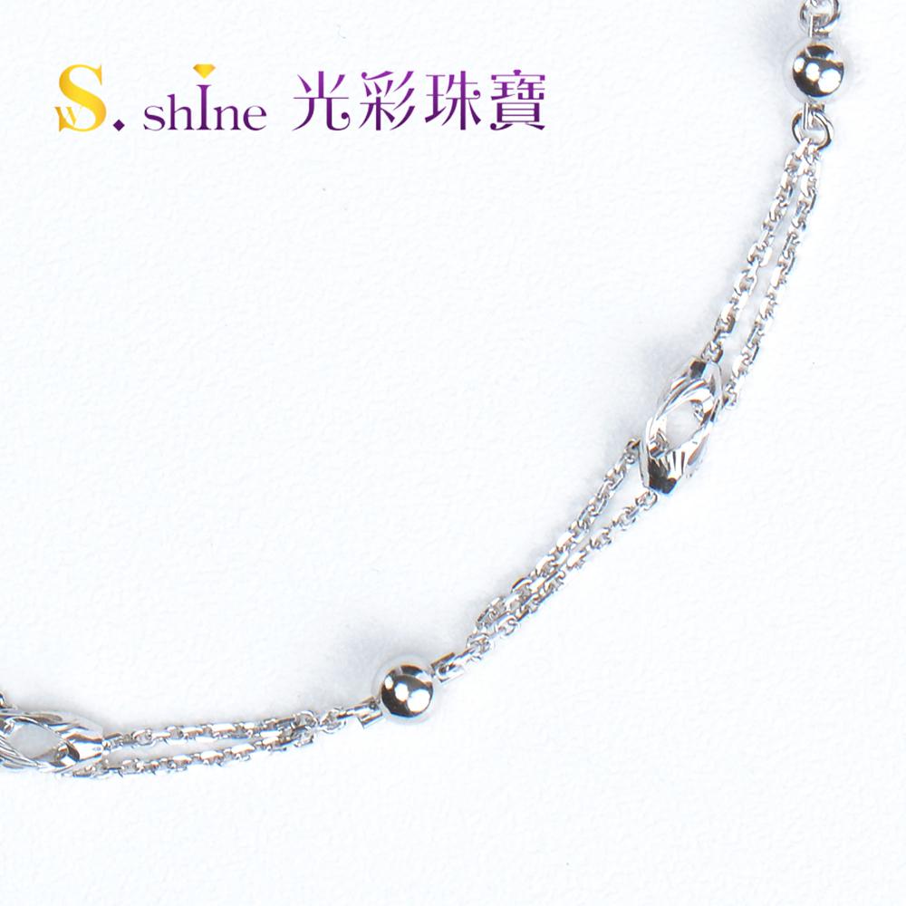 【光彩珠寶】日本鉑金手鍊 簡單甜蜜