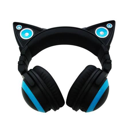Axent Wear 貓耳耳機 Headphones LED設計 (藍/紫/紅/綠色)-【送華碩UT200光學滑鼠+精密鎖邊大鼠墊】