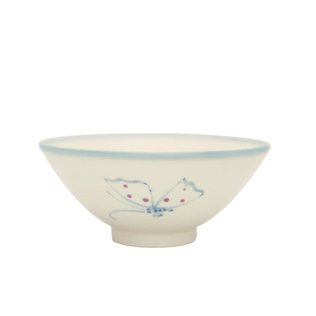 PEKOE飲食器—復古台灣碗.錐碗(蝴蝶)