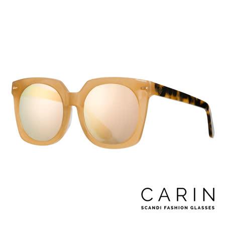 CARIN 韓國名星愛用經典款太陽眼鏡 Vesio-C2-Gold mirror (玳瑁焦糖色)