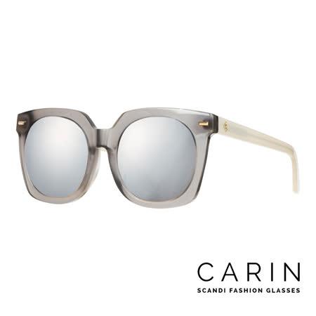 CARIN 韓國名星愛用經典款太陽眼鏡 Vesio-C5-Silver mirror (透明灰)