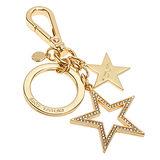 MICHAEL KORS 晶鑽星星鑰匙造型鑰匙圈吊飾-金色