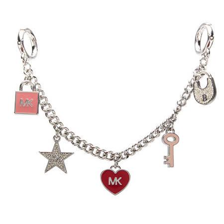 MICHAEL KORS  愛心鑰匙鎖頭造型包包吊飾-多色