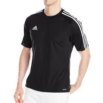 【Adidas】2016男時尚三條紋橫跨肩膀黑色短袖ㄒ恤【預購】