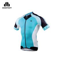 (男) SOOMOM 夢想短車衣-單車 自行車 水藍白黑