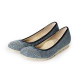 (女) FIRST CONTACT 滿天星楔型鞋 藍 鞋全家福