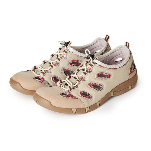 ^(女^) SPEEDY DUCK 花漾輕量 休閒鞋 米 鞋全家福