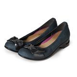 (女) ARCH CONTACT 緞面蝴蝶結氣墊女鞋 藍 鞋全家福