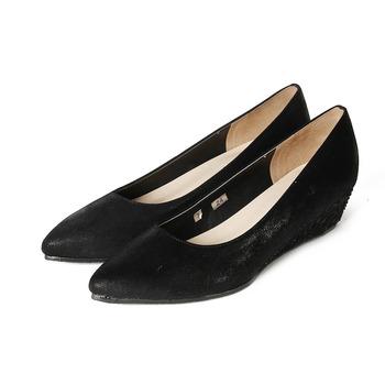 (女) CLASSIQUE GRECO 素面低跟楔型鞋 黑 鞋全家福
