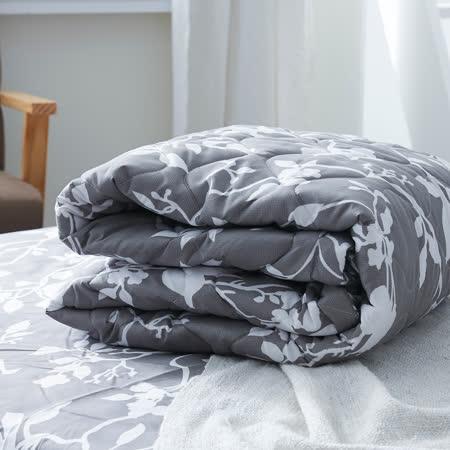 美夢元素 幽靜 天鵝絨涼被床包組 雙人四件式