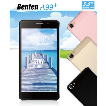 "Benten 奔騰 A99+ 超薄大螢幕5.5""雙卡四核3G極速飆網手機◆送透明保護套"