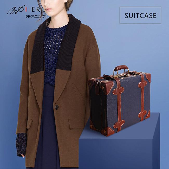 【MOIERG】Old Time迷戀舊時光combi gohappy 購物 金suitcase (M-14吋) Navy