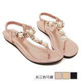 ALicE (預購)Y1145華麗水鑽夾腳涼鞋 (粉/金/黑)