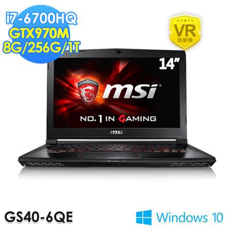 msi微星 GS40 6QE-208TW 14吋 i7-6700HQ GTX970M 超薄電競筆電