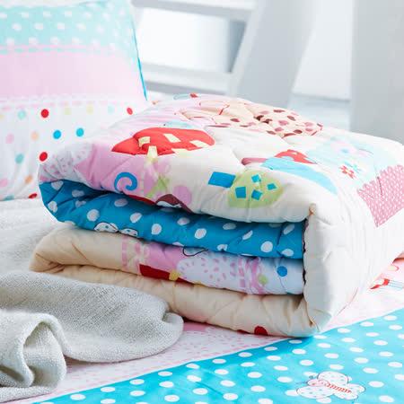美夢元素 愜意小調 天鵝絨涼被床包組 雙人四件式