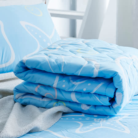 美夢元素 海洋之星 天鵝絨涼被床包組 雙人加大四件式