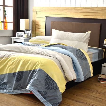 美夢元素 索思 天鵝絨涼被床包組 單人三件式