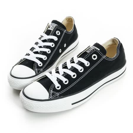 CONVERSE(男/女)經典膠底帆布鞋 黑-M9166C