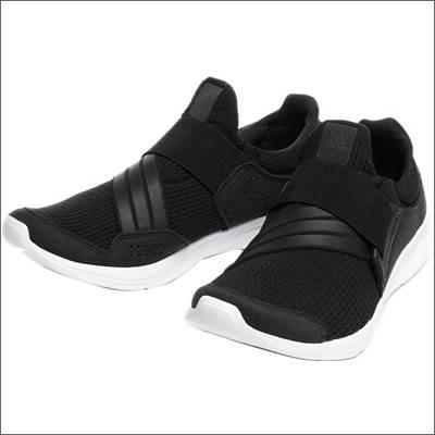 adidas女 繃帶慢跑鞋 黑白AF6543